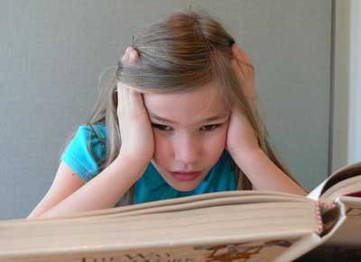 Girl with Reading Problems